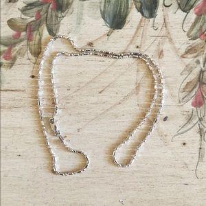 14kt White Gold Dot Dash Necklace